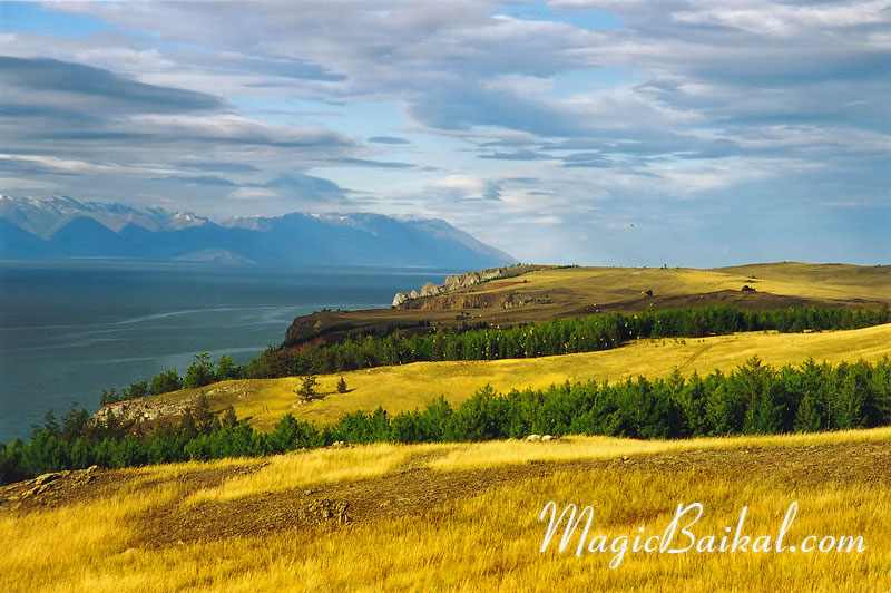 Lake Baikal. Autumn on Olkhon. Olkhon's north coast. Baikal's west coast.