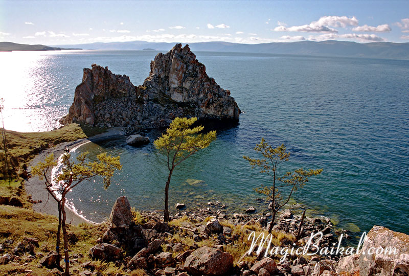 Lake Baikal. Cape Shaman (Burkhan). Olkhon's north coast. Baikal's west coast